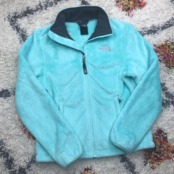 ... THIS ITEM IS SOLD! The North Face Osito Mint Blue Green Fuzzy Jacket.  M 5bd0d59034e48acb98901493 21eed4ca0